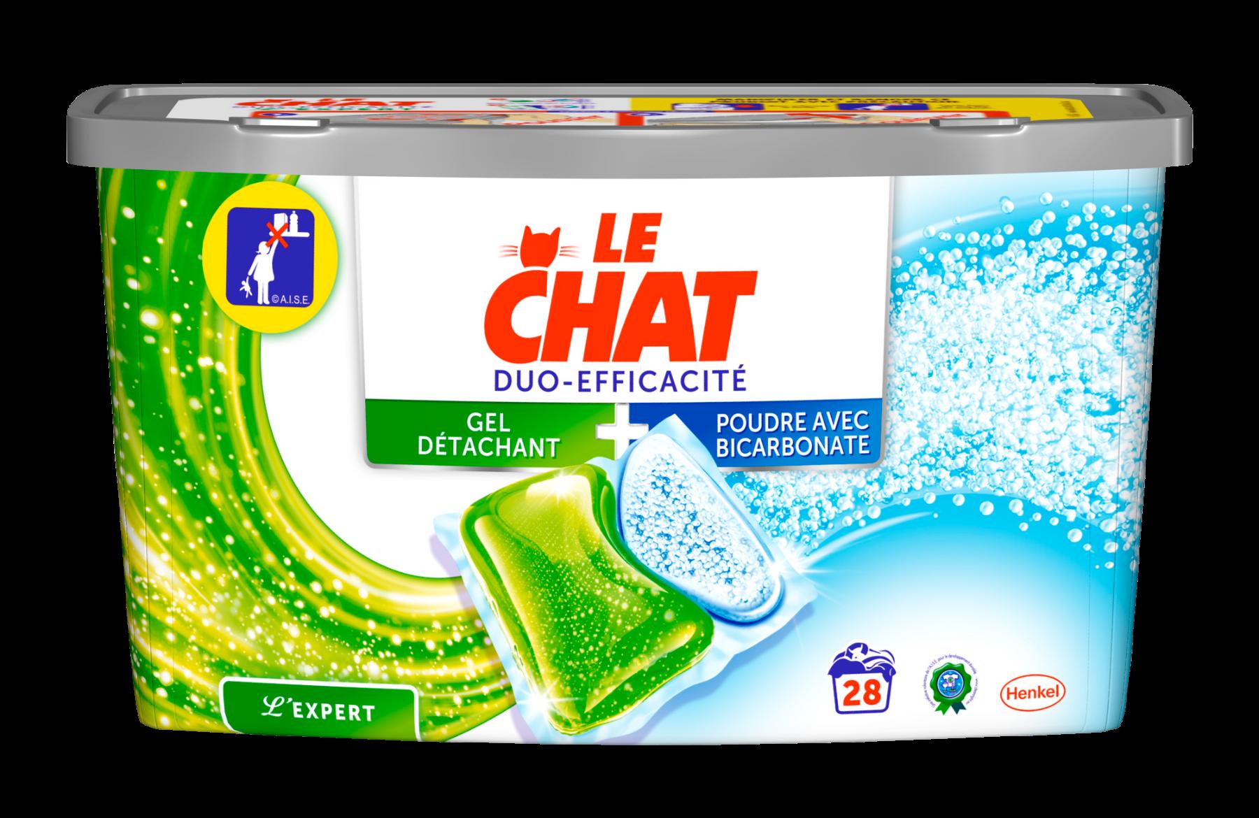 Lessive duo-efficacité Le Chat,LE CHAT,les 30 doses