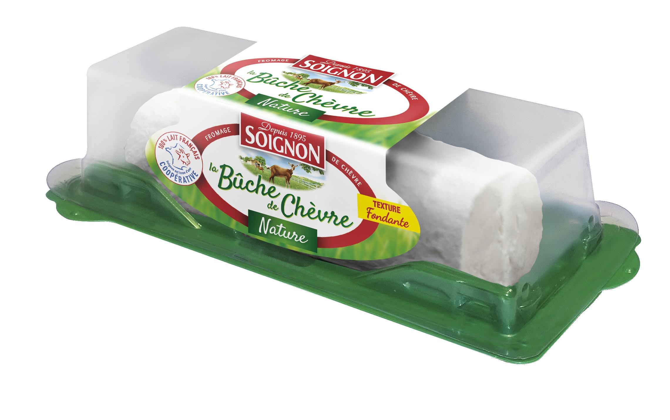 La Bûchette de chèvre doux et frais,SOIGNON,la bûchette de 150 g