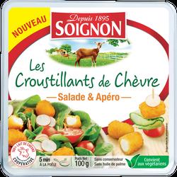 Fromage de chèvres pané pré-frits 23%mg  100g,SOIGNON,100 g