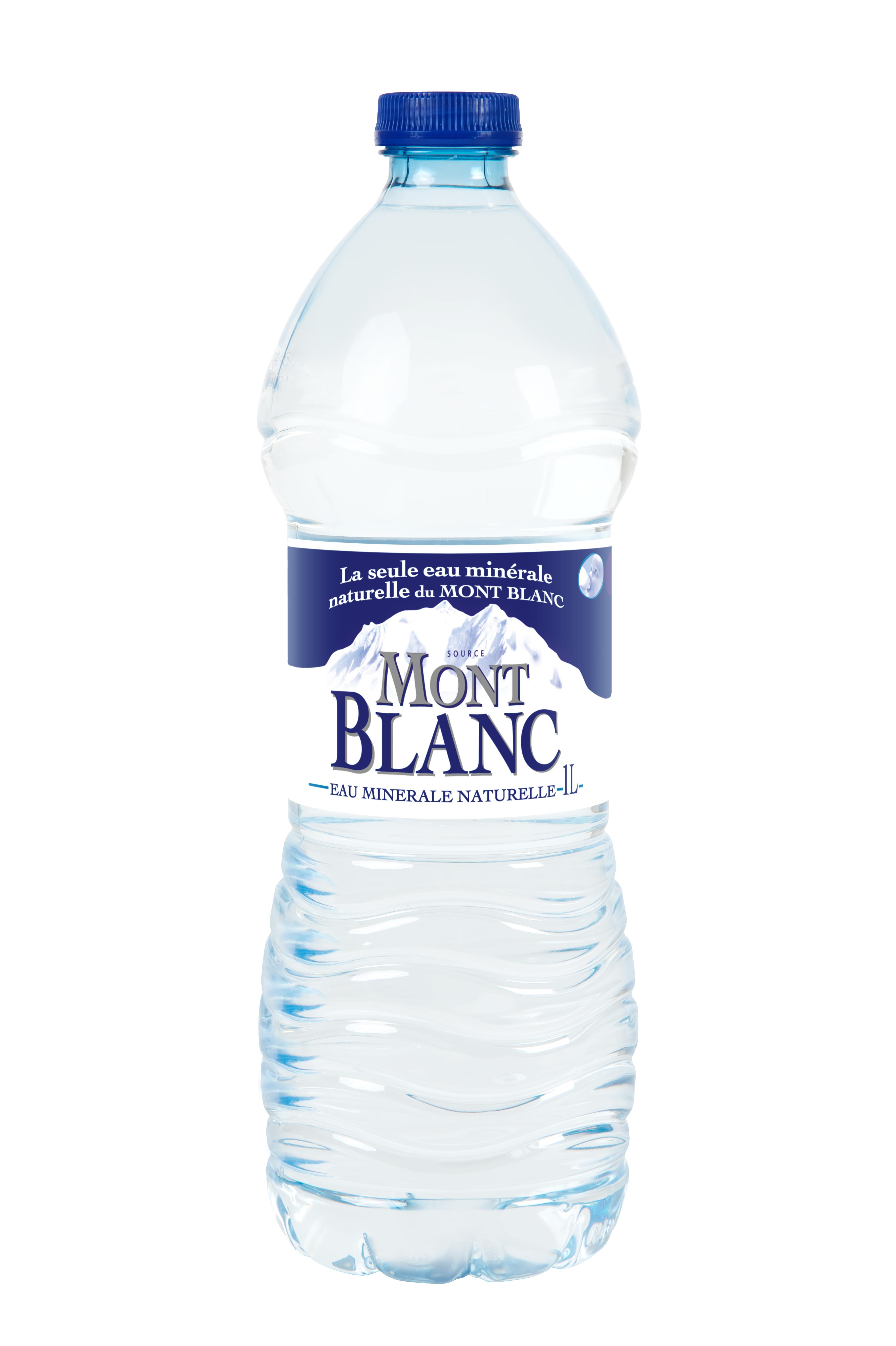 Eau minérale naturelle Mont Blanc,MONT BLANC,la bouteille d'1L